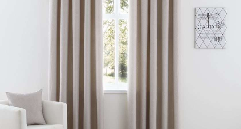 Nevada Eyelet Curtains Taupe Ponden Homes