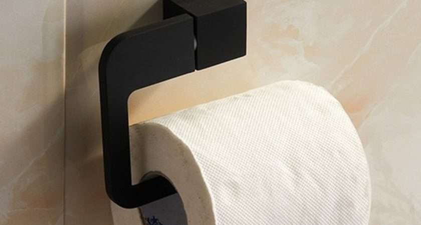 New Arrival Bathroom Fashion Black Finish Toilet Paper