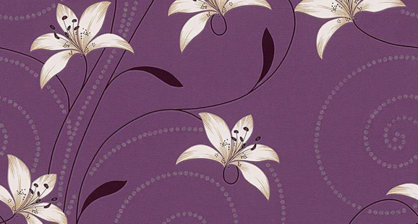 New Creation Lilly Floral Feature Purple