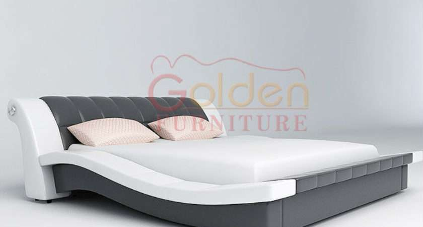 New Design Indian Style Bedroom Furniture Queen Leather Bed