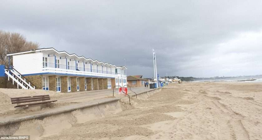 New Huts Pictured Above Another Sandbanks