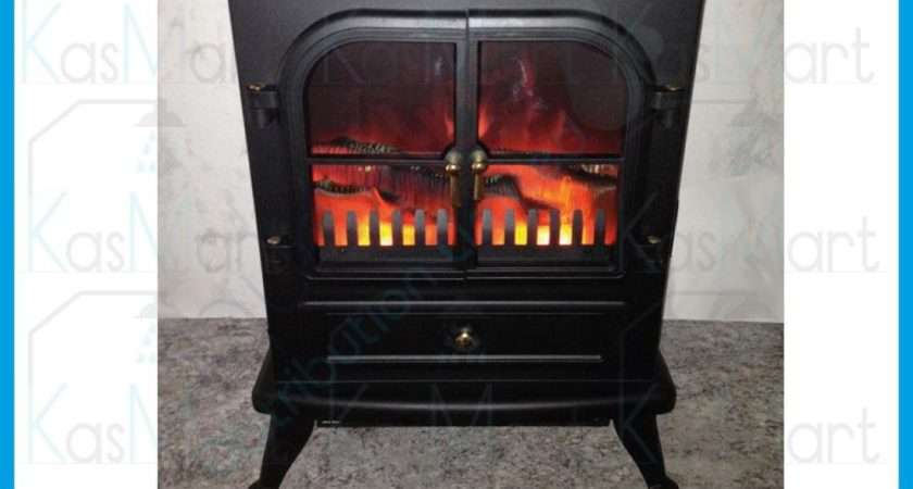 New Log Burning Flame Effect Stove Electric Fire Heater