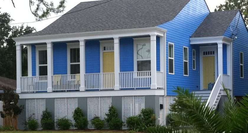 New Orleans House Paint Colors Periwinkle Blue White Yellow