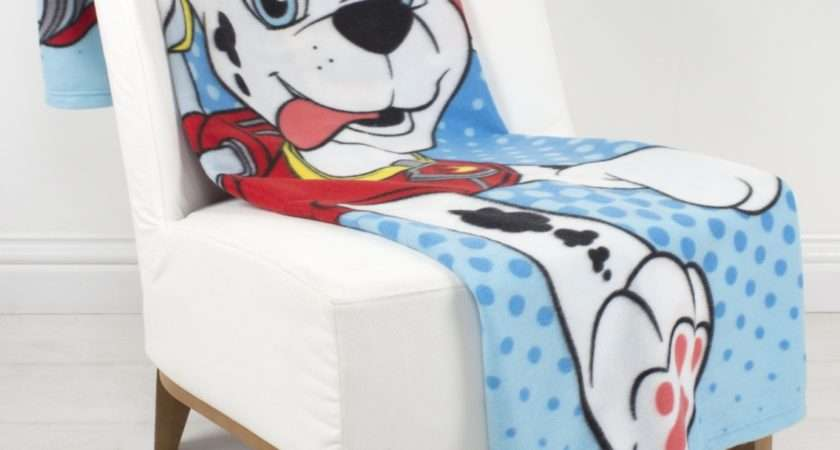 New Paw Patrol Rescue Fleece Blanket Boys Girls Kids Soft