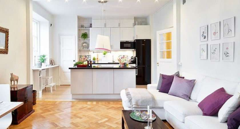 New Small Kitchen Living Room Together Design