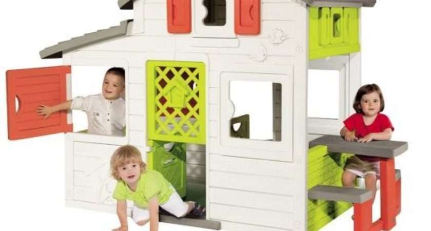 New Smoby Friends House Outdoor Garden Playhouse Wendy Houses Kids