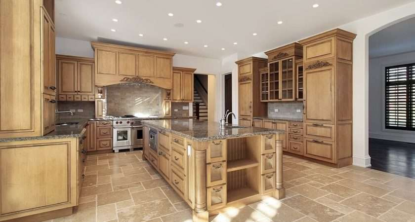 New Spacious Light Wood Custom Kitchen Designs