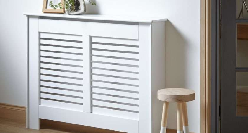 New Suffolk Medium White Painted Radiator Cover