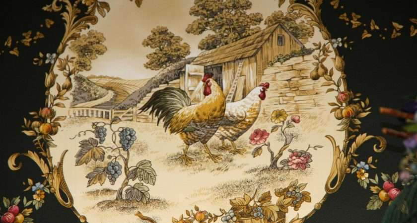 New Wall Paper Border Have Big Old Farm House