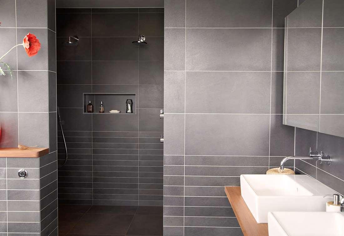 Nice Ideas Modern Bathroom Wall Tile Design