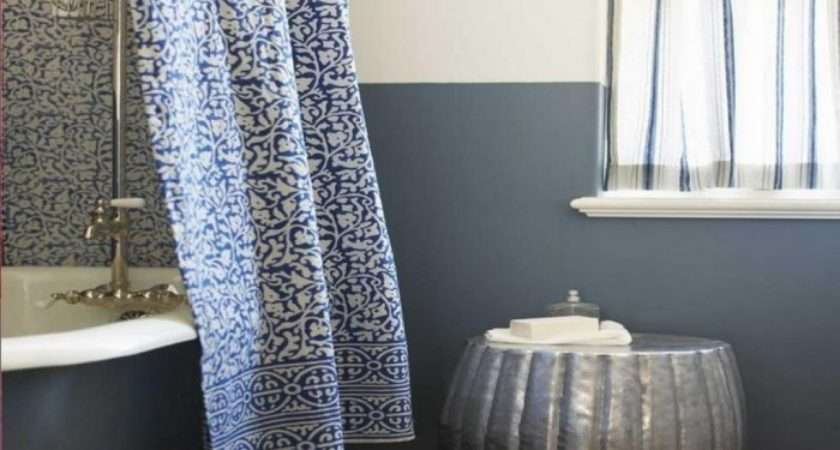 Nicely Pattern Bathroom Curtains