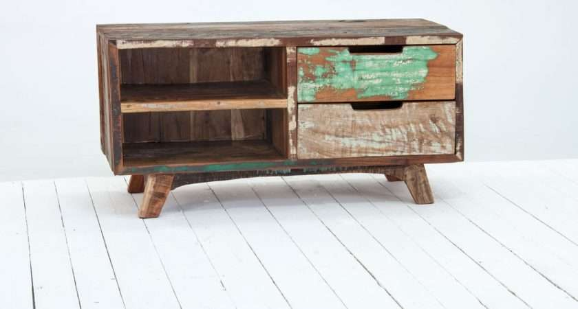 Oak Furniture Solutions Driftwood Reclaimed Cabinet