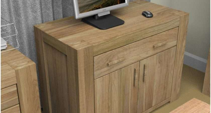 Oak Hidden Home Office Sideboard Desk Cmr Order Furniture