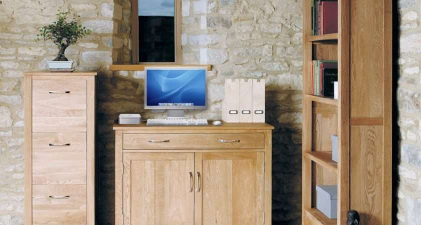Oak Hidden Home Office Sideboard Desk Cor Order Furniture