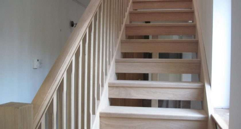 Oak Staircase Modern House Renovation Hereford Joinery