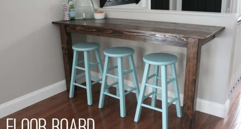 Old Floor Boards Were Upcycled Make Rustic Breakfast Bar