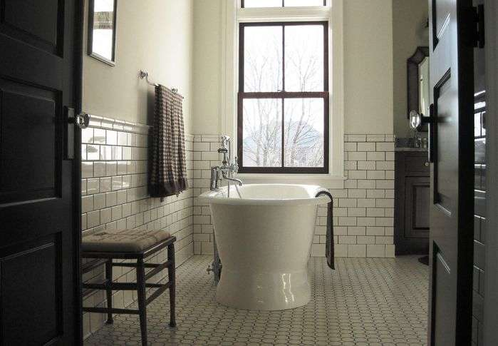 Old Stone Farmhouse Master Bath Traditional Bathroom Photos