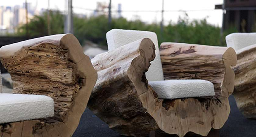 Old Trees Reused Adapted Into Seating
