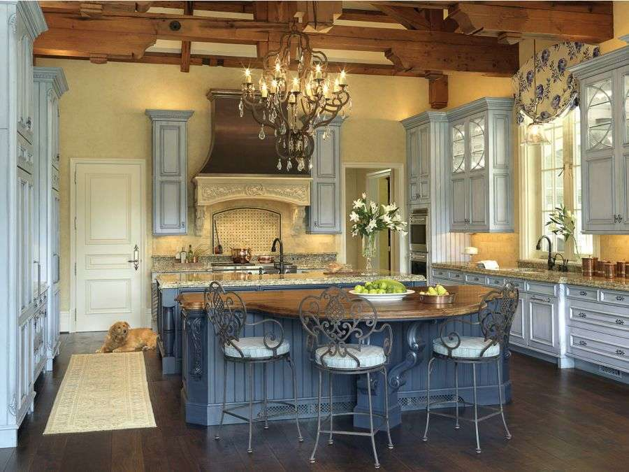 Open Cabinets French Country Kitchenmodern Kitchens Modern