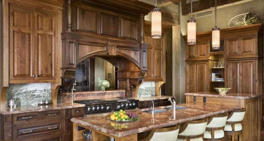 Open Country Rustic Kitchen Jerry Locati