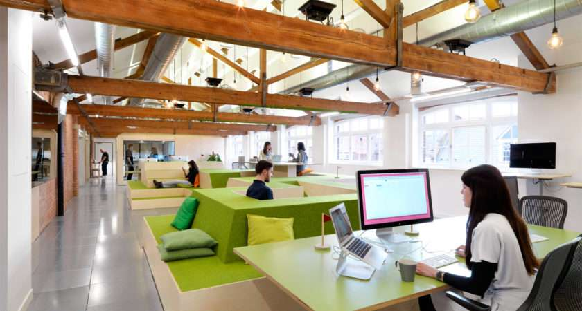 Open Plan Office Design Preventing Workers