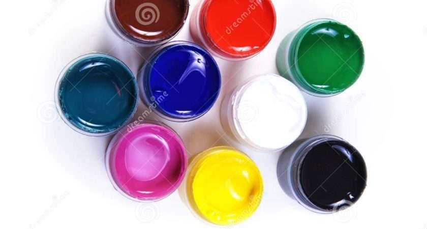 Opened Containers Paint Different Colours