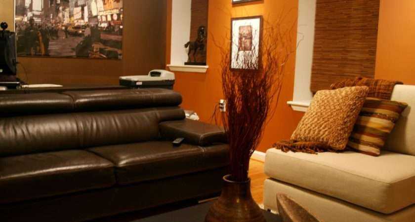 Orange Brown Asian Style Living Room Color