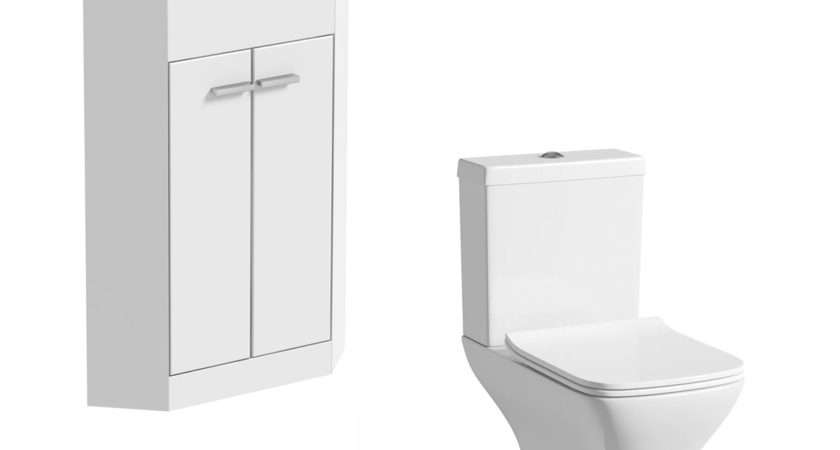 Orchard Compact White Cloakroom Suite Square Close