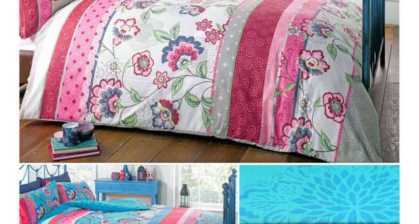 Oriental Retro Floral Duvet Cover Bold Outstanding