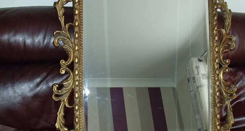 Ornate Vintage Style Antique Gold Large Wall Mirror