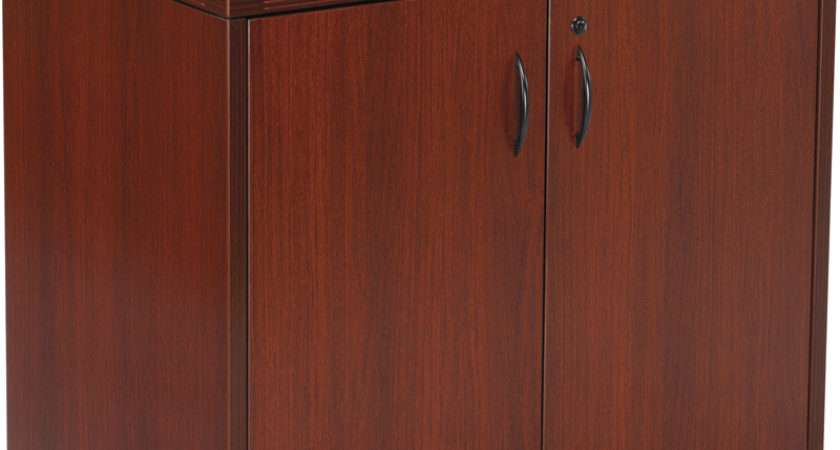 Osp Furniture Napa Storage Cabinet Mahogany Nap Mah Office