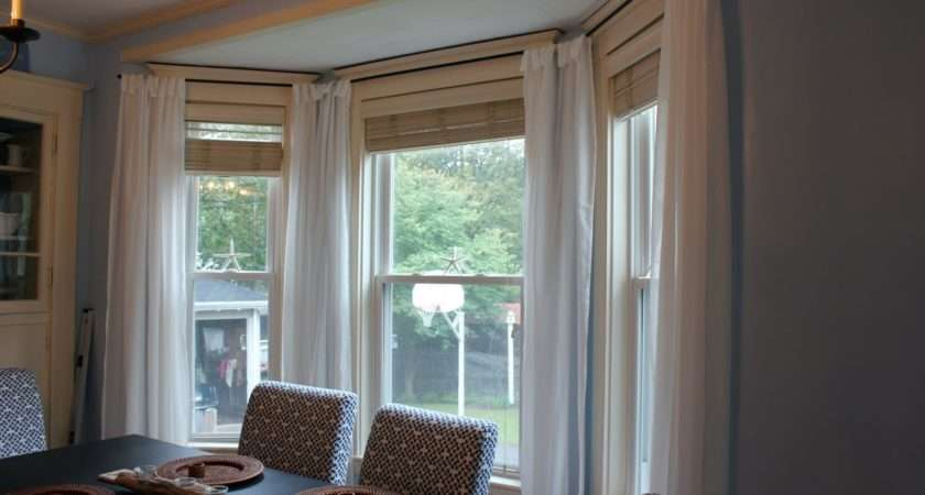 Our Cottage Coast Make Your Own Bay Window Treatment