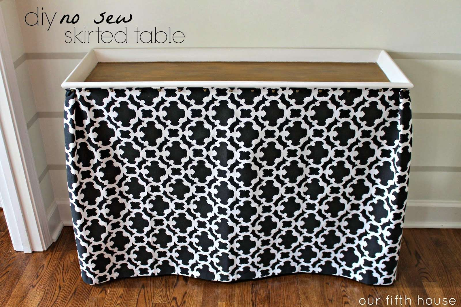 Our Fifth House Diy Sew Skirted Table