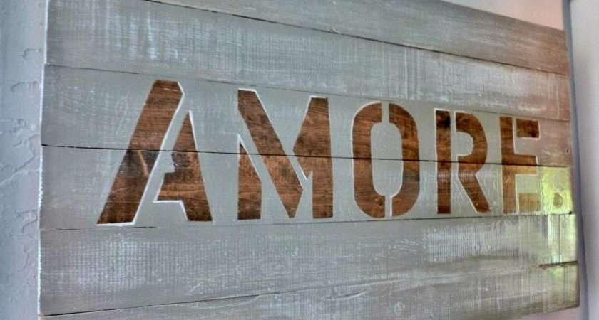 Our Vintage Home Love Amore Sign