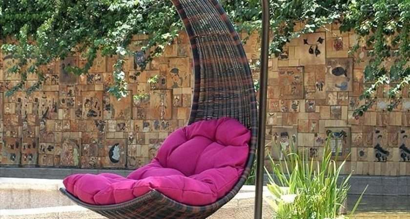 Outdoor Hanging Chair Help Swinging Relaxing Traba Homes
