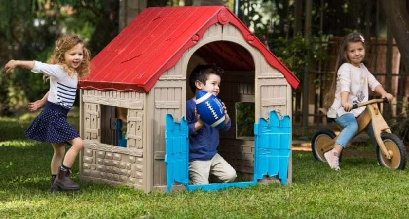 Outdoor Indoor Kids Folding Playhouse Childrens Plastic Wendy House