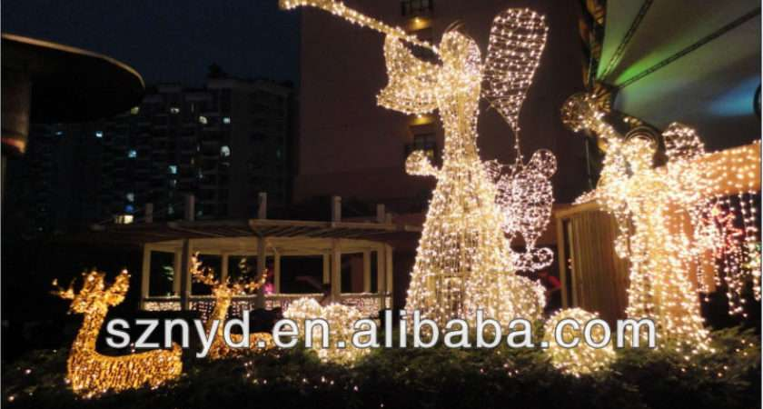 Outdoor Lighted Christmas Angels Buy