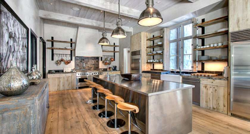 Outstanding Industrial Kitchens Decoration House