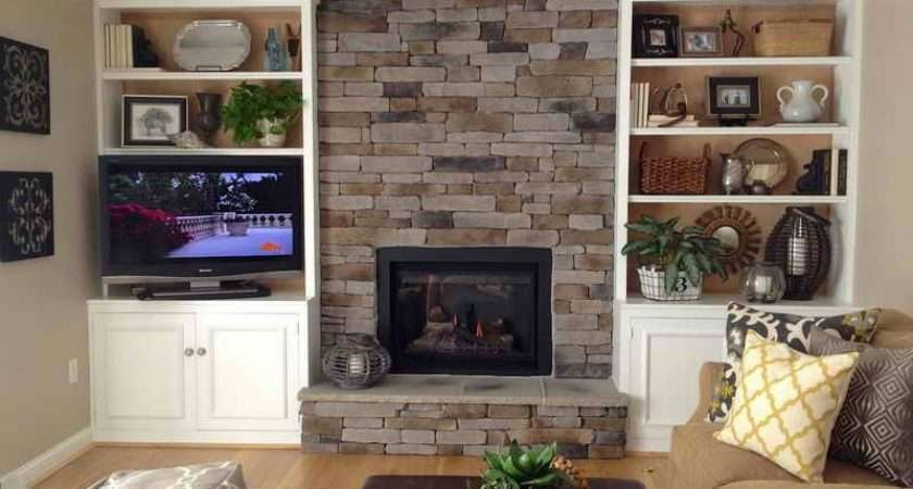 Over Fireplace Ideas Stone