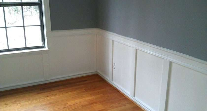 Over Paneling Lovely Wood Half Wall
