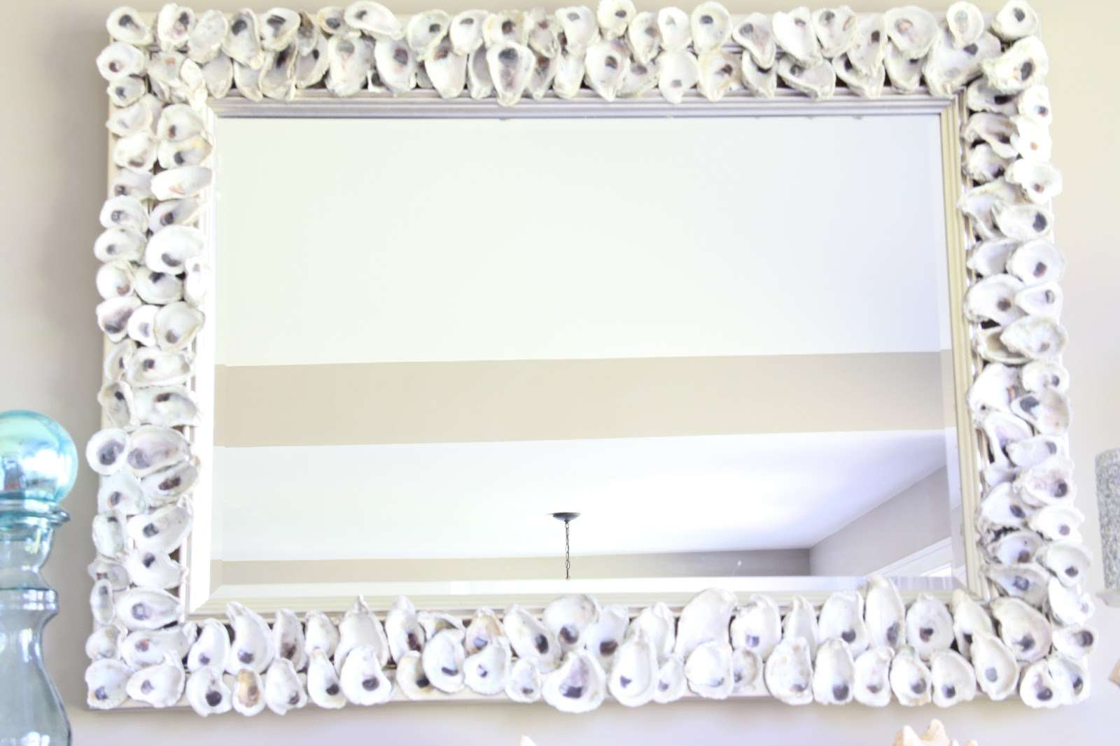 Oyster Shell Mirror Chandelier Made Last Summer
