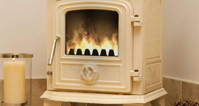 Padstow Cream Enamelled Wood Burning Stove