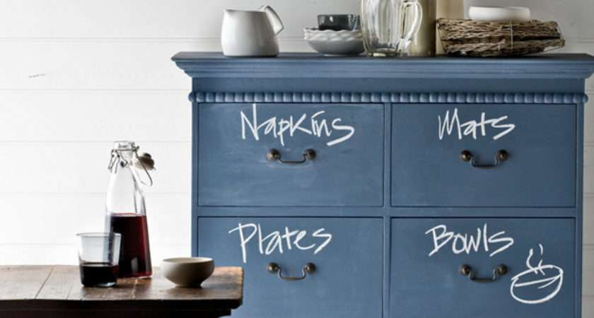 Paint Chalkbaord Drawers