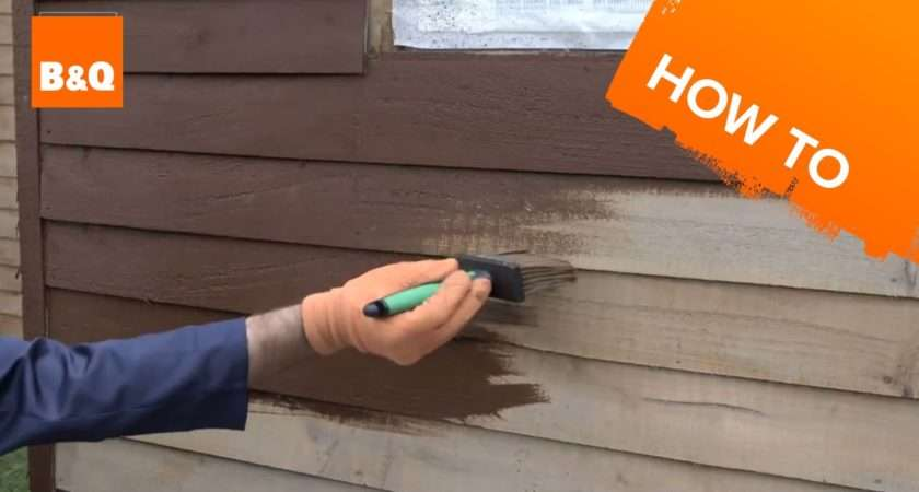 Paint Shed Fence Youtube