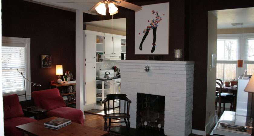 Paint Small Fireplace Home Color Match Gray Room