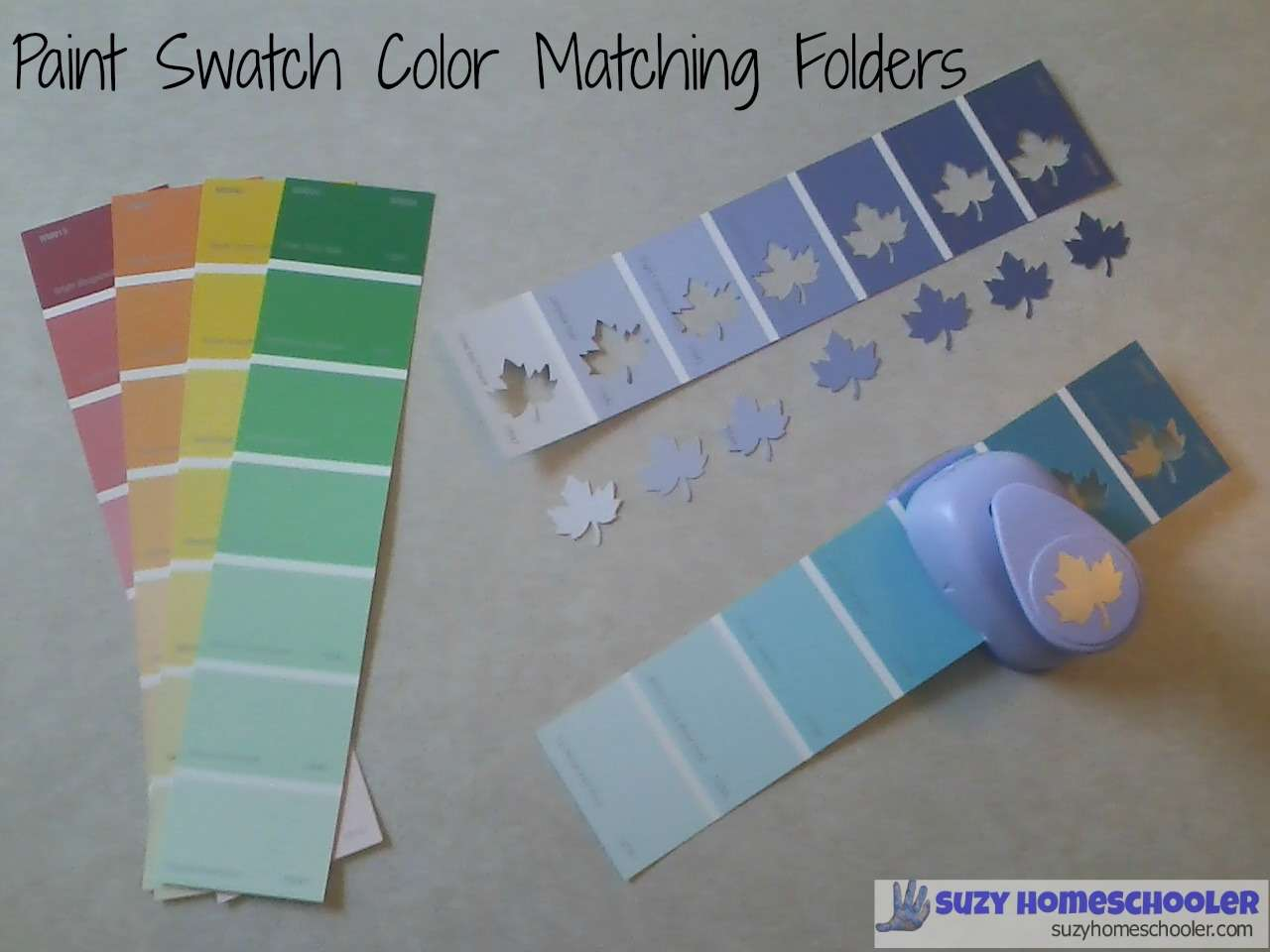 Paint Swatch Color Matching Folders Suzy Homeschooler