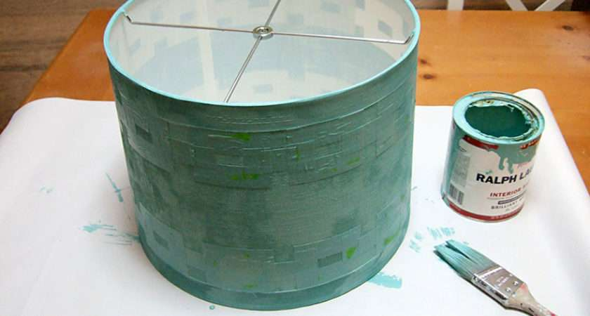 Painted Lamp Shade Rewired Diy Finial Paint Entire