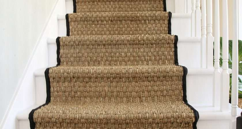 Painted Staircase Makeover Seagrass Stair Runner