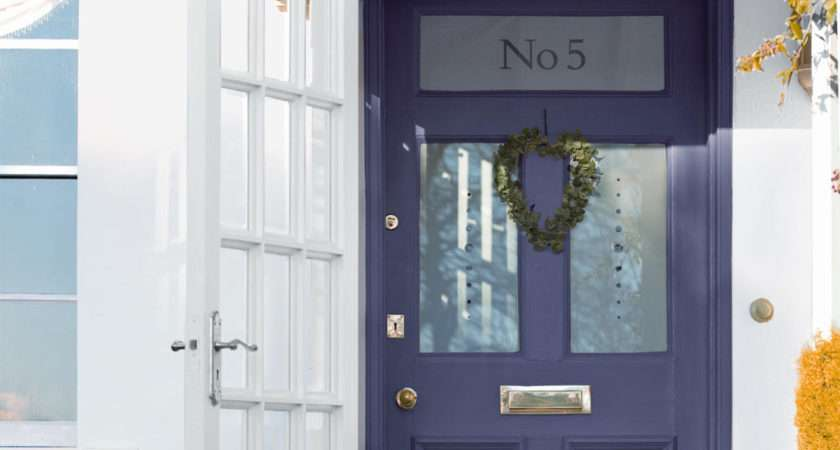 Painted Wooden Front Door Brightens Entrance Your Home