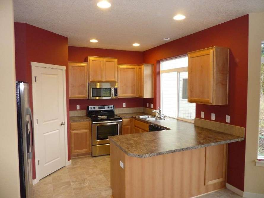 Painting Modern Kitchen Accent Wall Color